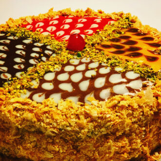 4 Flavour Mille Feuille Cake $35 (#232)