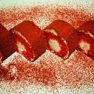 Red Velvet Mini Swiss Rolls $31.99 Kg (#668)